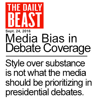 Media Bias In Presidential Debates - Style over substance is not what the media should be prioritizing in presidential debates