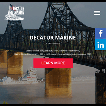 DecaturMarine.com - The website of Decatur Marine, a new sibling company of the Liberian (Ship) Registry, as of 2018. Shawn designed all the graphics, layout, and functions of the site, and worked with an outside contractor, Contraste21, to rapidly implement and launch the site.