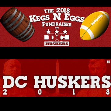 Graphics designed for use at DCHuskers.com, and for DC Huskers' social media channels.